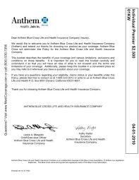 (n/k/a wellpoint, inc.) and anthem insurance companies, inc. Anthem Premier 2500 Complete Explanation Of Medicoverage