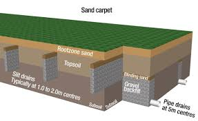 image of a soilless sand natural grass field section d pitch design