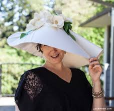 Paper Flower Hats My Paper Diy Kentucky Derby Hat Lia Griffith