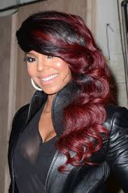 Black Hair Style Images 15 burgundy hair color ideas celebrity burgundy hairstyles 3143 by wearticles.com