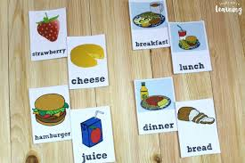 Food Flash Cards Free Printable Spanish Food Flashcards Look Were Learning