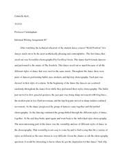 dance critique essay kott gabrielle most popular documents from university of nevada reno