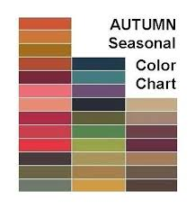 Seasonal Color Chart Autumn Seasonal Color Chart My Style Pinboard Fall Color