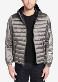 calvin klein men s mixed media hooded jacket created calvin klein leather jacket macys cairoamani com