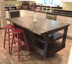 image of great rustic kitchen island ideas