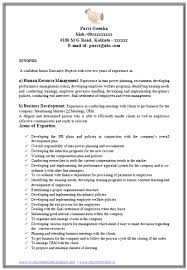 New Sample Resume For Mba Hr Experienced Free Template Design