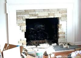 refacing fireplace with stone veneer cost to reface brick fireplace with stone veneer cozy ideas simple