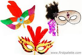 Card Masks To Decorate Masquerade Mask Craft Kids' Crafts FirstPalette 100