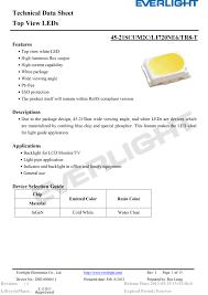 Ever Light Co Ltd Everlight Smd Led 3020 45 21scum2c L1720ne6 Tr8 T