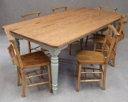 Small Picture OAK FARMHOUSE KITCHEN TABLE SIX VINTAGE CHAPEL CHAIRS