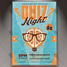 trivia night flyer templates quiz night premium flyer psd template psdmarket