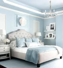 Transitional Bedroom Large Master With High Ornate Ceiling Dreamy Blue Walls And Full Length