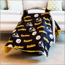 steelers car seat covers best of pittsburgh steelers baby gear cat canopy cover nfl licensed