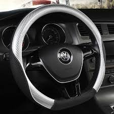 <b>D Shape Leather</b> Car Steering Wheel Cover Four Seasons Steering ...