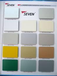 Acp Colour Chart Seven Color Chart
