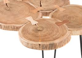 Details Zu Couchtisch Cole Wohnzimmertisch Beistelltisch Massivholz Baumstamm 100cm