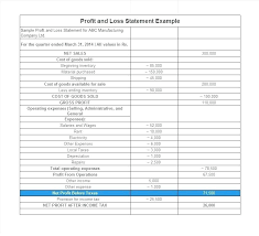 Profit Loss Statement For Self Employed Blank Profit Loss Statement Template Basic And Simple