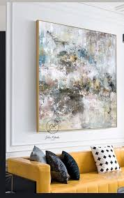 large abstract oil painting textured