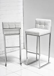 white leather bar stool images home decorating trends homedit