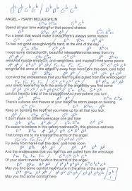 Angel Sarah Mcclaughlin Guitar Chord Chart In Db Major