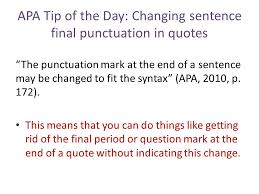 Quotes In A Sentence Cool APA Tip Of The Day Quotes Ppt Download