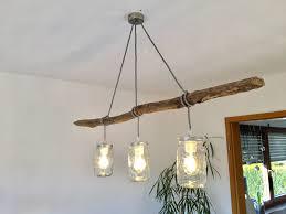 Homemade Lampe With Branch Selbstgemachte Esstischlampe Mit
