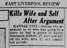 kansas city-murder suicide benjamin + alta gilbert Nov 1929 - Newspapers.com