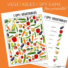 Vegetables Themed I Spy Game {Free Printable for Kids} | And Next ...
