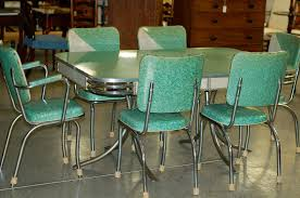 blue dining chair plan to top retro metal kitchen table sets best intended for 1950 kitchen