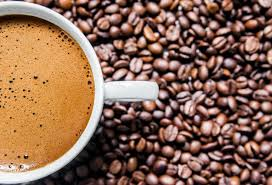 coffee beans cup. Beautiful Beans Coffee Cup And Coffee Beans On Table Top View Love Coffee Brown Throughout Beans Cup O