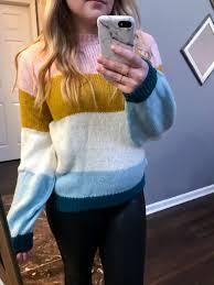 maggie a la mode nordstrom anniversary 2018 top colorblock knit pullover spanx faux