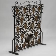 Image Jmsanlucar Fireplace Screen Made From French Art Deco Iron Grill For Sale Image Of Decaso Exquisite Fireplace Screen Made From French Art Deco Iron Grill Decaso