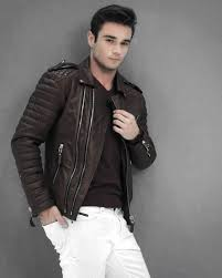 fashionable male brown leather jackets how to wear a leather jacket outfit grey t shirt black