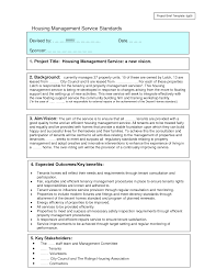 Project Brief Template Generous Project Brief Example Template Images Entry Level Resume 8