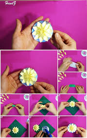 How To Make A Flower Out Of Paper Step By Step Easy 3d Origami Flower On Cd Tutorial Usefuldiy Com