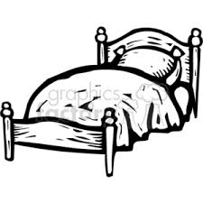 bed clipart black and white. Exellent Clipart Black White Bed With Bed Clipart Black And White B
