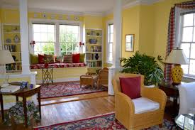 Interior Design For Living Room And Dining Room Fab Living Room Decor Ideas With Yellow Interior Paint Added Built
