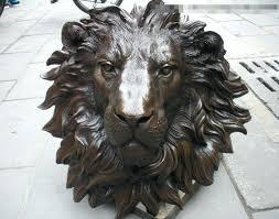 lion head wall pure bronze lions head wall hang family decor art sculpture