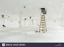 office ceiling lamps. Workers Are Used Wooden Ladder To Complete Conditioning System Ventilation At Modern Office Ceiling With Air Duct And Lamps. Lamps