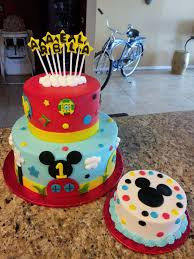 Mickey Mouse Clubhouse Cake 7 And 11 Rounds All Frosted In