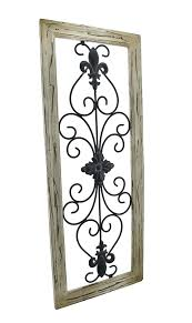iron wall hangings wrought iron wall hangings distressed woon tan frame cor x iron wall