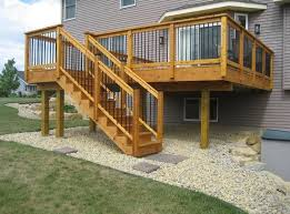 backyard deck design ideas. Astounding Elevated Deck Design Ideas For Backyard R