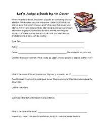 book cover predictions worksheet
