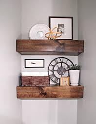 rustic diy floating shelves tutorial wooden bath shelf