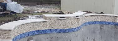 enhance the edge of your pool with tile and coping