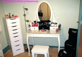 contemporary white makeup vanity table set w bench ikea behindthebars