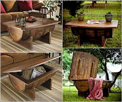 recycle wine barrel into amazing whiskey coffee table diy wine barrel coffee table free plan