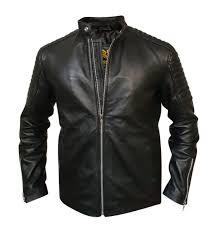 Mens Designer Padded Jacket Men Designer Shoulder Padded Motorcycle Racer Leather Jacket