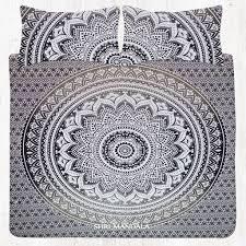 full size grey bohemian bedding mandala bedding set
