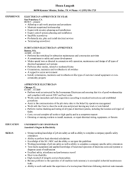 Sample Of Electrician Resumes Apprentice Electrician Resume Samples Velvet Jobs